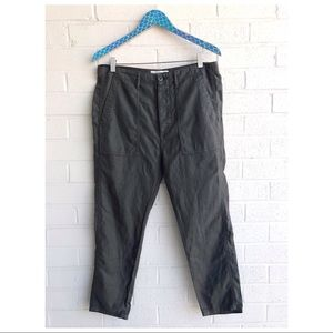 The GREAT. Slouchy Green Army Utility Pants